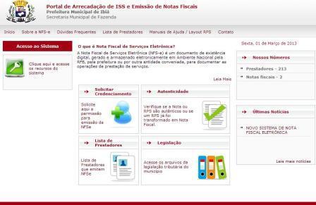 Ibiá lança novo sistema para nota fiscal eletrônica