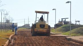 Ruas da Cidade Administrativa de Araxá preparadas para receber asfalto