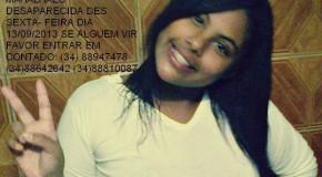Jovem de 16 anos está desaparecida em Araxá
