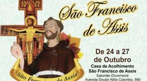 Festa em louvor a São Francisco de Assis começa dia 24, em Araxá