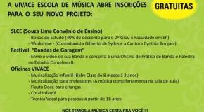 Escola Vivace realiza Circuito Cultural no final do mês