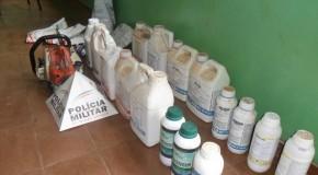 PM de Pratinha encontra carro com materiais furtados