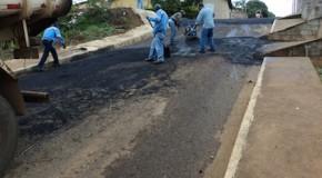 Nova operação tapa buracos pelas ruas de Tapira