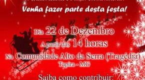 Ainda dá tempo de ajudar a Campanha Natal Solidário do Alto da Serra, em Tapira