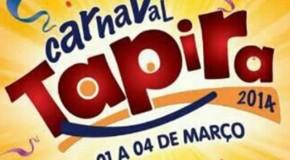 Definida a programação do Carnaval de Tapira 2014