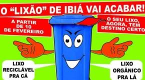 Ibiá anuncia fim do lixão e anuncia projeto de coleta seletiva