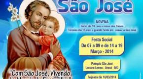 Vem aí mais uma Festa em Louvor à São José, no Urciano Lemos