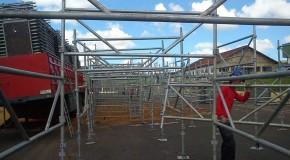 Começa montagem da estrutura da 40ª ExpoAraxá
