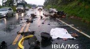 Acidentes na BR-262, entre Ibiá e Campos Altos matam três pessoas