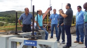 Comitiva de vereadores visita Estação de Tratamento de Esgoto da Copasa