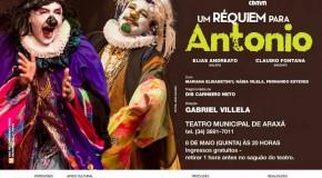 Peça Um Réquiem para Antônio, de Gabriel Villela, chega à Araxá nessa quinta