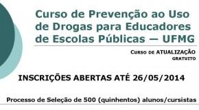 UFMG oferece curso sobre prevenção de drogas para educadores