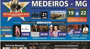 Vem aí a Festa do Produtor Rural de Medeiros, no mês de junho