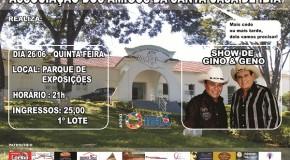 Começa a venda de ingressos para show beneficente a Santa Casa de Ibiá