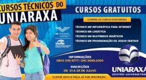Inscrições para cursos técnicos gratuitos no Uniaraxá encerram nesta sexta