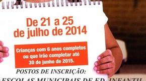 Prefeitura de Araxá começa na segunda, o Recadastramento Escolar 2015