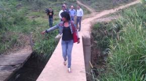 Vereadores visitam ponte que liga Cincinato de Ávila ao Urciano Lemos