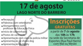 """Secretaria de Esportes de Araxá realiza """"Cãominhada"""" no dia 17 de agosto"""