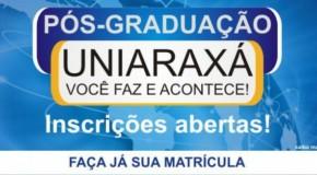Uniaraxá abre inscrições para cursos de Pós-Graduação