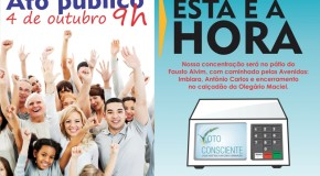 Araxá realiza Ato Público da Campanha Voto Consciente, do Ministério Público