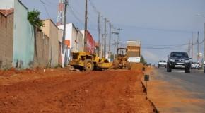 Rua Honório de Paiva Abreu, em Araxá, está sendo duplicada