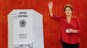 Dilma Rousseff vence Aécio Neves no Brasil, mas termina em segundo lugar em Araxá