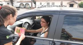 Blitz educativa marca o dia em memória às vítimas do trânsito, em Araxá