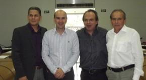 Miguel, Fabiano, Eustáquio e Farley compõem a nova Mesa Diretora da Câmara de Vereadores de Araxá