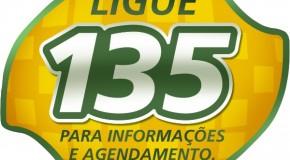 Central 135 confirma comparecimento de segurado previamente agendado no INSS