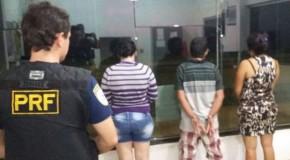 Polícia Rodoviária Federal prende trio com produtos eletrônicos em Campos Altos