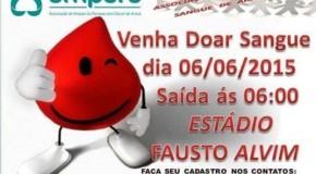 Excursão, em junho, leva doadores de sangue de Araxá para Uberaba