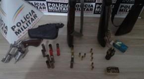 Armas de fogo são apreendidas em mata na região dos Oliveiras, em Araxá