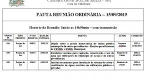 Projetos de vereadores afastados, em Araxá, permanecem na pauta da reunião ordinária