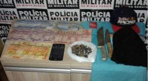 Acusado de roubos a comércios é preso em Araxá