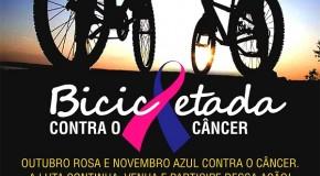 Bicicleta, no mês de novembro, alerta comunidade para prevenção ao câncer