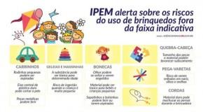 Ipem alerta sobre os perigos de presentear crianças com brinquedos fora da faixa etária