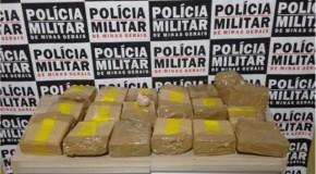 Casal é preso no Setor Norte de Araxá com 19 tabletes de maconha