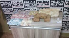 Duas apreensões de drogas em Araxá tiram da rua, mais de dois quilos de maconha