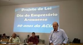 Projeto de Lei na Câmara Municipal cria o Dia do Empresário Araxaense