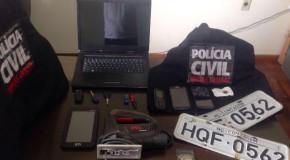 Polícia Civil prende três suspeitos de vários crimes na Operação Casa da Sorte