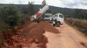 Erosão na Estrada da Antinha, causada pela chuva, é recuperada