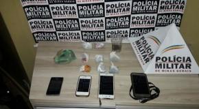 PM prende quatro suspeitos por envolvimento com o tráfico de drogas