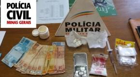 Operação da PM e PC em Tapira termina com três presos por tráfico de drogas