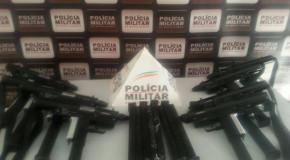Arsenal de armas, de uso restrito, é apreendido em Santa Juliana