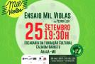 Músicos de Araxá ensaiam para o Mil Violas 2017
