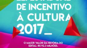 Últimos dias para inscrever projetos no edital da Lei Estadual de Incentivo à Cultura 2017