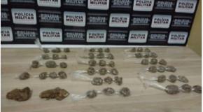 Acusados de tráfico são presos pela PM no Setor Oeste da cidade