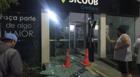 Agência bancária do Sicoob em Tapira é novamente alvo de assaltantes