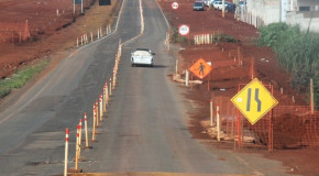 Trecho da Hítalo Ross funciona em pista estreita e requer atenção do motorista