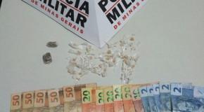 Acusado com drogas é preso pela PM na cidade de Nova Ponte